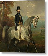 Count Alfred De Montgomery 1810-91 1850-60 Oil On Canvas Metal Print