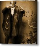 Count Dracula In Sepia Metal Print