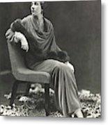 Countess Celani Lepri Wearing A Velvet Dress Metal Print