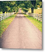 Country Back Roads Metal Print