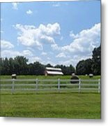 Country Barn And Hay Metal Print