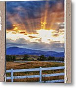 Country Beams Of Light Pealing Picture Window Frame Vie Metal Print