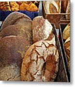 Country Bread And Muffins Metal Print