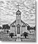 Country Chapel Metal Print