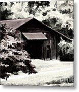 Country Charm In Dramatci Bw Metal Print