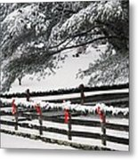Country Christmas Metal Print