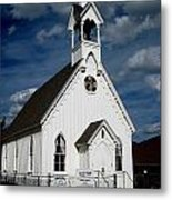Country Church Metal Print by Claudette Bujold-Poirier