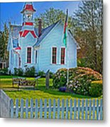 Country Church In Oysterville Wa Metal Print