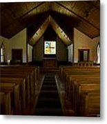 Country Church Interior Metal Print