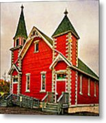 Country Church Paint Metal Print