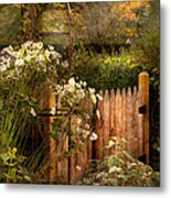 Country - Country Autumn Garden  Metal Print by Mike Savad