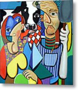 Country Cubism Metal Print