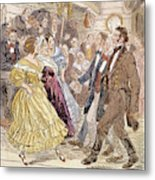 Country Dance, 1820s Metal Print