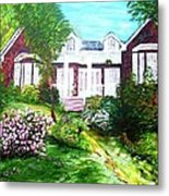 Country Estate In Spring Metal Print