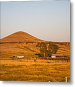 Country Farm In The Hills Metal Print