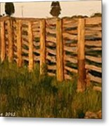 Country Fence In England Metal Print