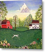 Country Frolic One Metal Print