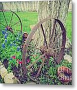 Country Garden Metal Print