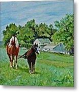Country Horses Metal Print