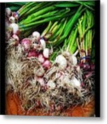 Country Kitchen - Onions Metal Print