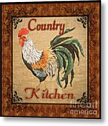 Country Kitchen Rooster Metal Print