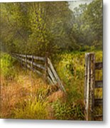 Country - Landscape - Lazy Meadows Metal Print by Mike Savad