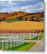Country Lane Metal Print by Frozen in Time Fine Art Photography