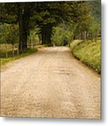 Country Lane - Smoky Mountains Metal Print by Andrew Soundarajan