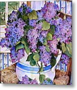 Country Lilacs Metal Print by Sherri Crabtree