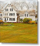 Country Moments-farmhouse In Woodstock Vermont Metal Print