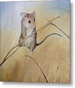 Country Mouse Metal Print