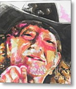 Country Music Artist...willie Nelson Metal Print