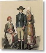 Country People From Ingelstad Metal Print