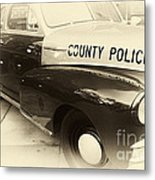 Country Police Antique Toned Metal Print by John Rizzuto