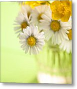 Country Posy Metal Print