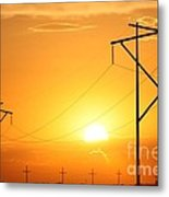 Country Powerline's Metal Print