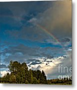 Country Rainbow Metal Print