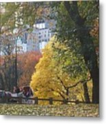 Country Ride In The City Metal Print