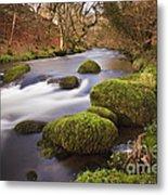 Country River Scene Wales Metal Print
