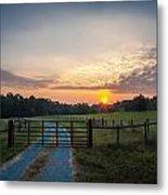 Country Road At Sunrise Metal Print