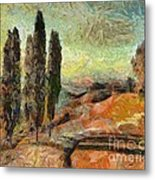 A Sunset In Tuscany Metal Print