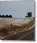Country Roads In Holmes County Metal Print
