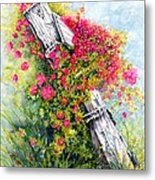 Country Rose Metal Print