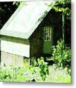 Country Shed Metal Print by Florene Welebny
