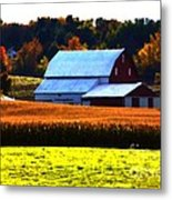 Country Side Metal Print