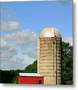 Country Silo Metal Print