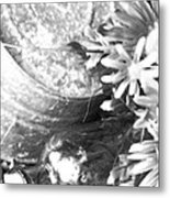 Country Summer - Bw 05 Metal Print