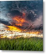 Country Sunset In Valenca - Brazil Metal Print