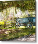 Country - The Old Wagon Out Back  Metal Print by Mike Savad