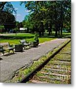 Country Train Station Metal Print